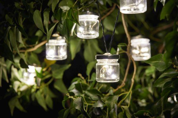 10 Solar Powered Firefly Jars String Lights by Smart Garden