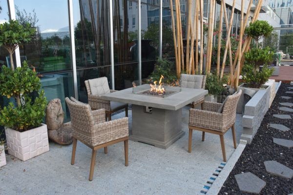 120cm Birmingham Fire Pit Four Seater Dining Table