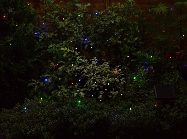 50 (6.9m) Solar Powered Coloured Garden String Lights by Smart Solar