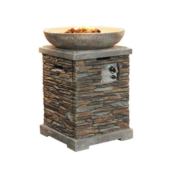 Callow Slate Effect Gas Fire Pit