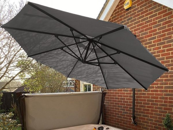 Canopy Only For Turino Wall Parasol   Grey