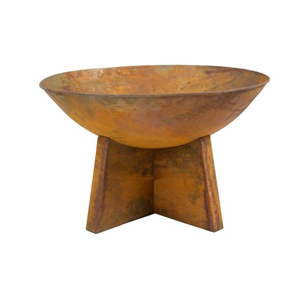 Charles Bentley 60cm Oxydised Rust Finish Fire Pit