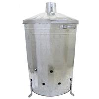 Charles Bentley 90L Galvanized Waste Incinerator