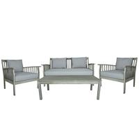 Charles Bentley FSC Acacia White Washed Lounge Set
