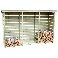 Charles Bentley FSC Wooden Triple Log Store