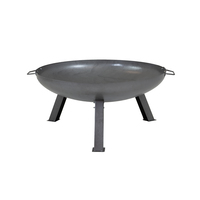 Charles Bentley Large 80cm Round Oil Finished Fire Pit