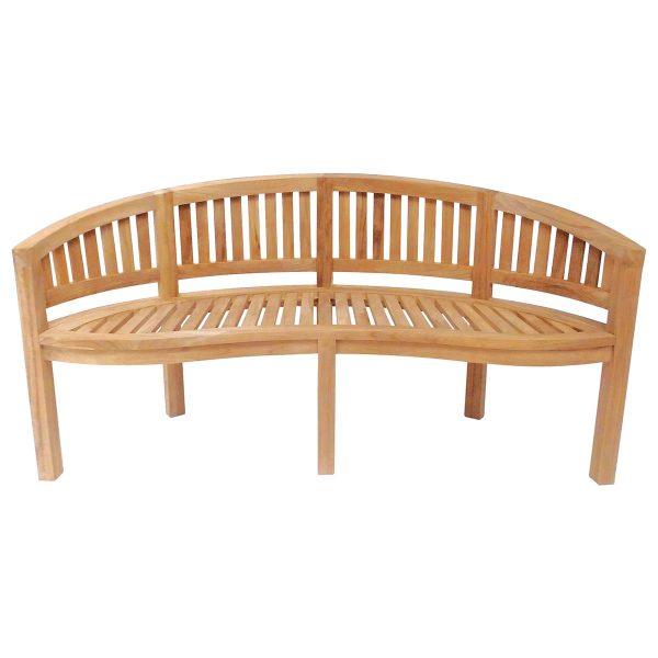 Charles Bentley San Diego 3-Seater Wooden Garden Bench