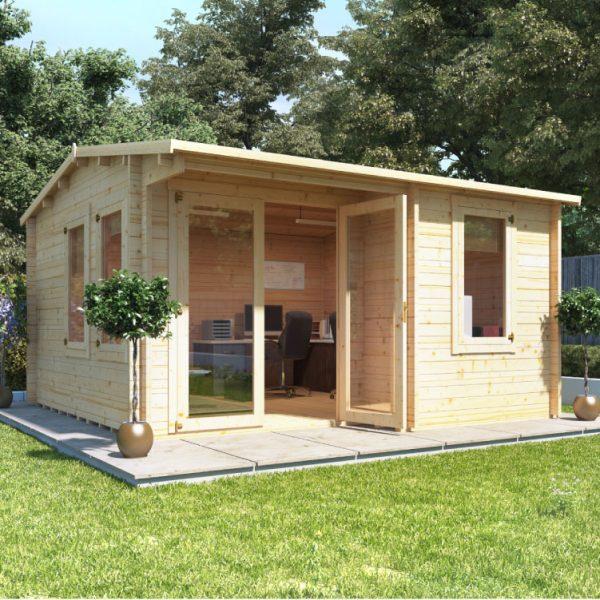 4m x 4m Kent Garden Office - BillyOh Log Cabin - 28mm
