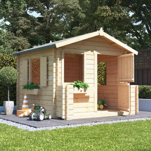 BillyOh Junior Log Cabin Playhouse - 28mm Junior Log Cabin 2021 W2.0m x D2.0m