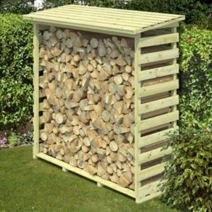 Blooma Beni Pressure Treated Wooden Medium Log Store