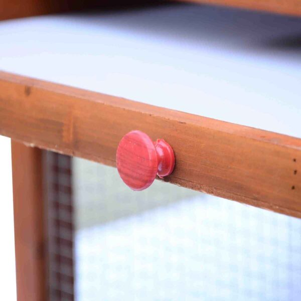 PawHut Waterproof Roof Chicken Coop w/ Outdoor Run Nesting Box & Removable Tray - Orange