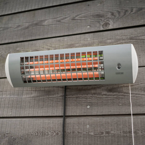 1.8kW IPX4 Wall Mounted Quartz Bulb Electric Patio Heater with 3 Power Settings by Heatlab®