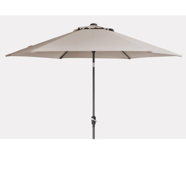 3m Wind Up Parasol In Stone Colour